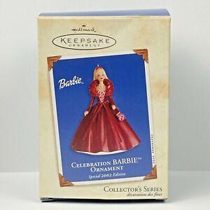 Special 2002 Edition Celebration Barbie Ornament Hallmark Keepsake Ornament EUC