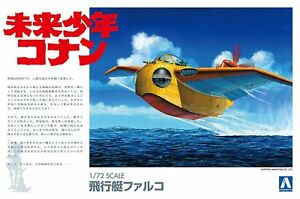 Aoshima 09451 Future Boy Conan the Flying Boat Falco 1/72 scale kit Japan