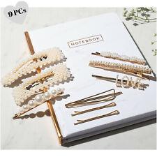 Pearl Hair Clip - 9 Hair Accessories for Women - Word Bobby Pins