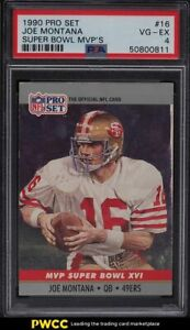 1990 Pro Set Super Bowl MVP's Joe Montana #16 PSA 4 VGEX