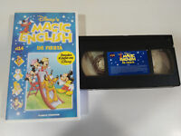 DE FIESTA MAGIC ENGLISH DESCUBRE EL INGLES CON WALT DISNEY VHS CINTA TAPE