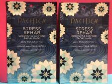 Pacifica Stress Rehab Coconut Caffeine Sheet Mask Vegan Calms Natural Lot Of 2!