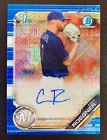 2019 Bowman Chrome CAM ROEGNER Autograph Rookie Mojo Blue Refractor SP /150