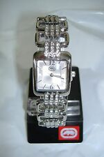 NEW Womens Marc Ecko UNLTD Watch Square Diamond Stainless Steel E8M140MV $110