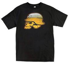 Metal Mulisha Buzz Beer Skull T Shirt Mens SMALL Black Tee FMX M25518236E BLK