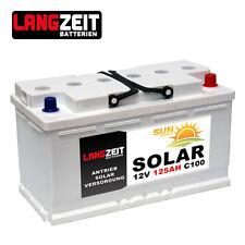 Versorgungsbatterie 12V 125Ah Marine Antrieb Beleuchtung Solar Batterie 100Ah