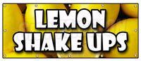 LEMON SHAKE UPS BANNER SIGN icy cold fresh refreshing ice homemade lemonade