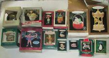 Big Lot of 14 HALLMARK ORNAMENTS in boxes 1983 -1997 Hercules Crayola Carousel +