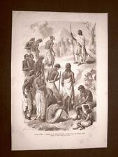 Teodoro II d'Etiopia nel 1862 Aurè Udienza a contadini ribelli + Lejan Etiopia