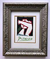 PABLO PICASSO ORIGINAL 1971 SIGNED PRINT MATTED 11 X 14 + LIST $495