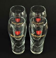 4 X WORTHINGTON'S ETCHED 'MASTER BREWER' COLLECTABLE PINT BEER GLASSES