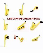 1pc Metal Gold Tobacco Sax Saxophone Smoking Pipe Cigarette Cigar Pipes Gift