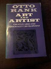 Art and Artist by Otto Rank, Charles Francis Atkinson and Anaïs Nin (1989,...
