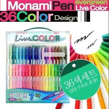 MONAMI evergreen Live Color Water-Based Marker 36 Piece Set