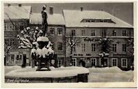 1955 DDR Postkarte von BAD GOTTLEUBA Strassen Partie am Gasthof Denkmal Geschäft