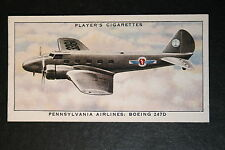 Pennsylvania Airlines  Boeing 247D   Original 1930's Card # VGC