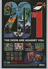 1994 Spider-Man Spiderman video game (Sega Genesis SNES Super Nintendo) print ad