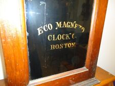 Old 1912 Boston Eco Magneto Clock Company Watchman's Electric Time Recording A6
