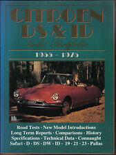 Citroen Ds & id Brooklands Oro Cartera Libro De Road ensayos y artículos