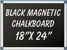 "18""x24"" Aluminum Framed  Black Magnetic Chalkboard With Pen Tray LIQUID CHALK OK"