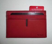 NWT $75 Tumi Chambers RFID Leather Card Case Mens Wallet w Tumi GIFT BOX NEW