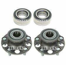 Front & Rear Wheel Bearing Hub Assembly Kit Timken For Acura TL Honda Accord FWD