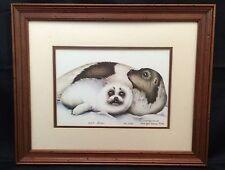 Nancy Shumaker Pallan Harp Seal Family Framed Art Print 108/1500 Signed LE