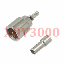 3pcs Connector FME male plug pin crimp for RG316 LMR100 RG174 RF COAXIAL