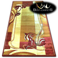 Rug KIWI beige/rose CHEAP HEATSET LEAVES Small Medium Large Size carpets floor