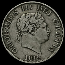 1819 George III Milled Silver Half Crown