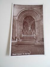 Old Real Photo Postcard HEREFORD CATHEDRAL THE HIGH ALTAR (G HAMMONDS ) §A1215