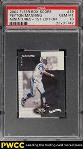 2002 Fleer Box Score Miniatures 1st Edition Peyton Manning /100 #19 PSA 10 GEM