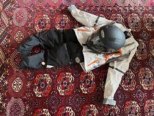 Komplette Kinder-Krad-Kombi - Jacke, Hose, Helm, Handschuhe, ideal für M/152-158