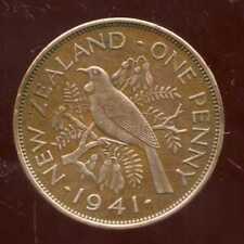 NOUVELLE ZELANDE  one 1 penny  1941  ANM