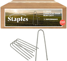Sandbaggy Galvanized 6 Inch Round Top Landscape Staples ~ Sod Garden Stakes for