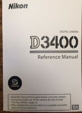 NIKON D3400 Reference Manual  - Full Colour Printed & Professionally Bound A5
