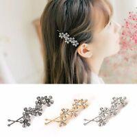 Fashion Women Crystal Rhinestone Flower Hair Clip Barrette Hairpin Pin Jewelry