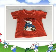 "Vintage Smurfs T Shirt 12-18 Mo Baby C: 22"" Collectible Pop Culture Cartoon"