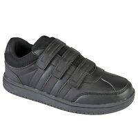 Boys Black School Shoes Kids Trainers Children Urban Jack Polaris Trainers Size
