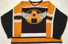 Aerosmith Hockey Jersey Rare Original Boston Bruins Colors Athletic Knit Mens S