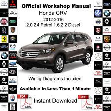 Honda CR-V CRV 2012-2016 Factory Service Workshop Repair Manual