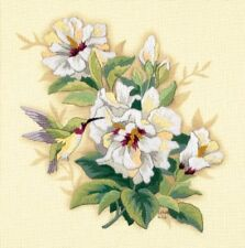 "Dimensions Hibiscus Floral Crewel Embroidery Stitch Kit 12"" Square Craft NEW!"