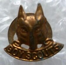 Badge- Australian Boy Scouts Wolf Badge (BRASS* Genuine)