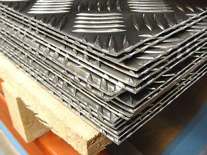 CHEQUER PLATE 5 bar Tread plate Aluminium SHEET- 1.0 2.0 or 3.0 Thick