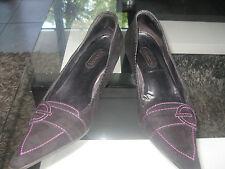 Chaussures escarpins femmes Accessoire Diffusion t.38 chèvre velours noir