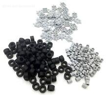 LEGO wheels 200 Piece Set - 40 grey plates/axles - 80 Tyres - 80 wheels