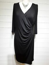 BNWT Savoir Dress ~ Size 14 ~ Black ~ 3/4 Sleeves ~ Casual, Party ~ 1345