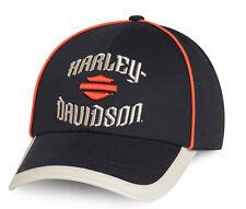 HARLEY DAVIDSON Mens  H-D Font with B&S Black Cotton Baseball Cap hat