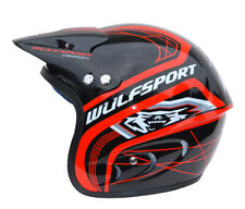 Wulfsport Large Red Action Trials Motorbike Open Face Helmet Lid Motocross MX