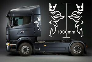 SCANIA TRUCK LOGO STICKER DECAL for Cab X2 1000mm Hi, Choice of colours